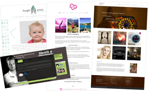 Collage van websites gemaakt door PIM! Webdesign