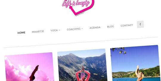 Website van Liefde in beweging