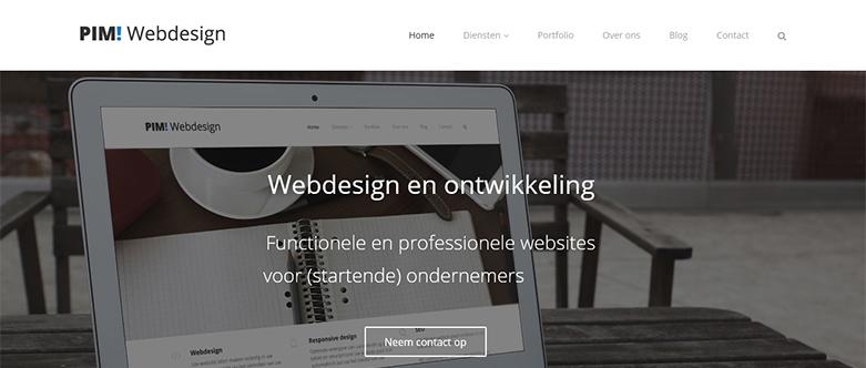 Vernieuwde website van PIM! Webdesign