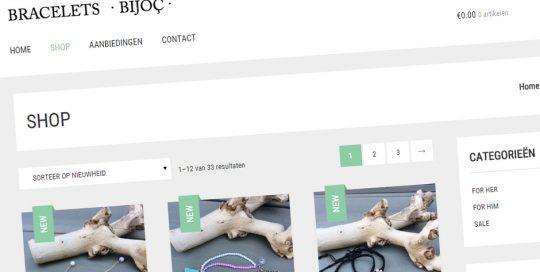 Website van Bracelets Bijoc