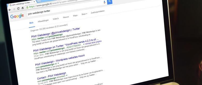 Tweets in de zoekresultaten van Google