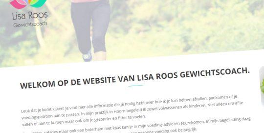 Website van Lisa Roos Gewichtscoach