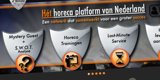 Website van Horeca Alliantie