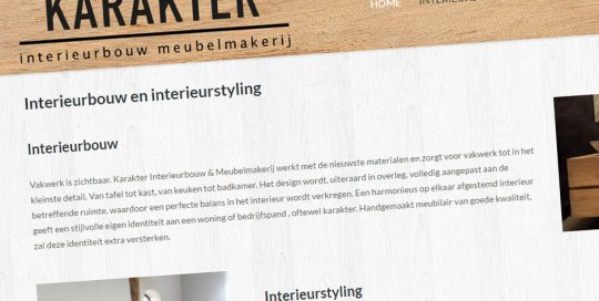 Website van Karakter Interieur