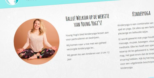 Website van Young Yogi's
